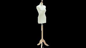 3020FL Skredderbyste dame m/lang kropp for kjole trebent fot i ask