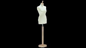 3021FL Skredderbyste dame m/lang kropp for kjole rund fot i ask